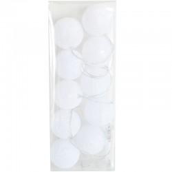 Valopallot 10 kpl valkoinen