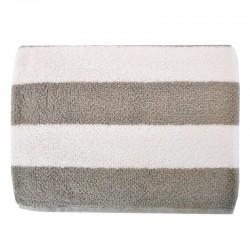 Pyyhe raita harmaa/valkoinen