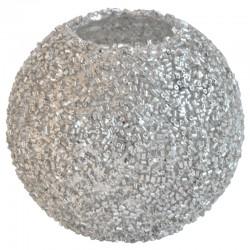 Lämpökynttilälasi hopea