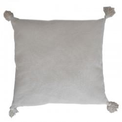 Tyynynpäällinen beige tupsut