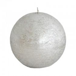 Pallokynttilä 9 cm hopea