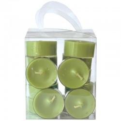 Lämpökynttilä 20-pack oliivi