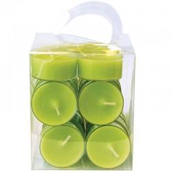 Lämpökynttilä 20-pack lime