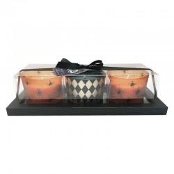 Kynttiläsetti oranssi/musta